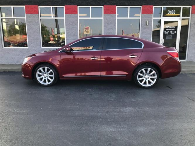 2011 RED BUICK LACROSSE CXL (1G4GC5ED7BF) with an 3.6L engine, Automatic transmission, located at 3100 Covert Avenue, Evansville, IN, 47714, (812) 473-4492, 37.955418, -87.512238 - Photo #0