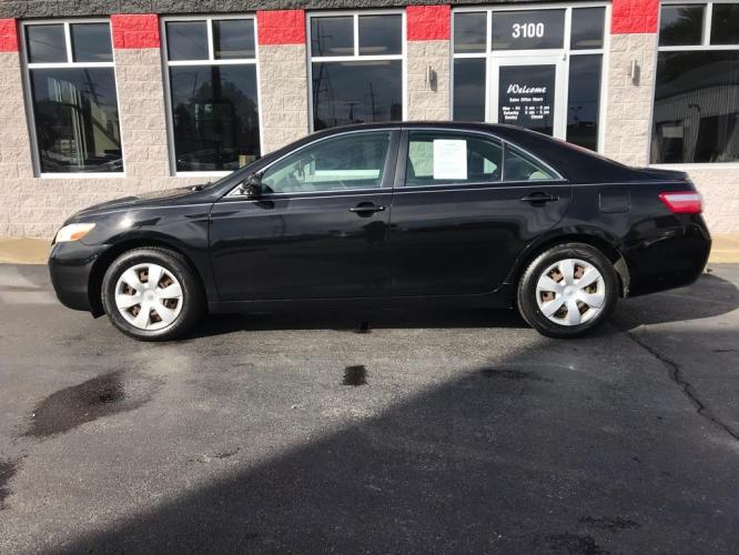 2008 BLACK TOYOTA CAMRY CE (4T1BE46K68U) with an 2.4L engine, Automatic transmission, located at 3100 Covert Avenue, Evansville, IN, 47714, (812) 473-4492, 37.955418, -87.512238 - Photo #0