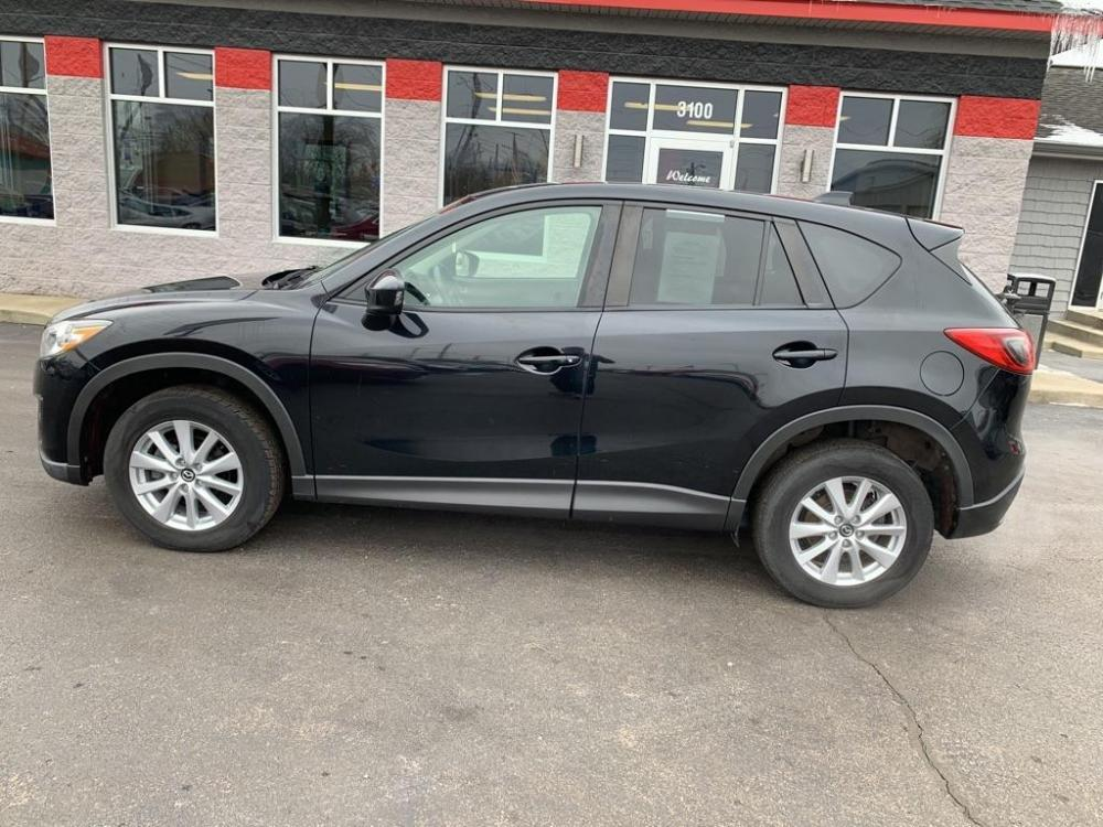 2015 BLACK MAZDA CX-5 TOURING (JM3KE4CY9F0) with an 2.5L engine, Automatic transmission, located at 3100 Covert Avenue, Evansville, IN, 47714, (812) 473-4492, 37.955418, -87.512238 - Photo #0